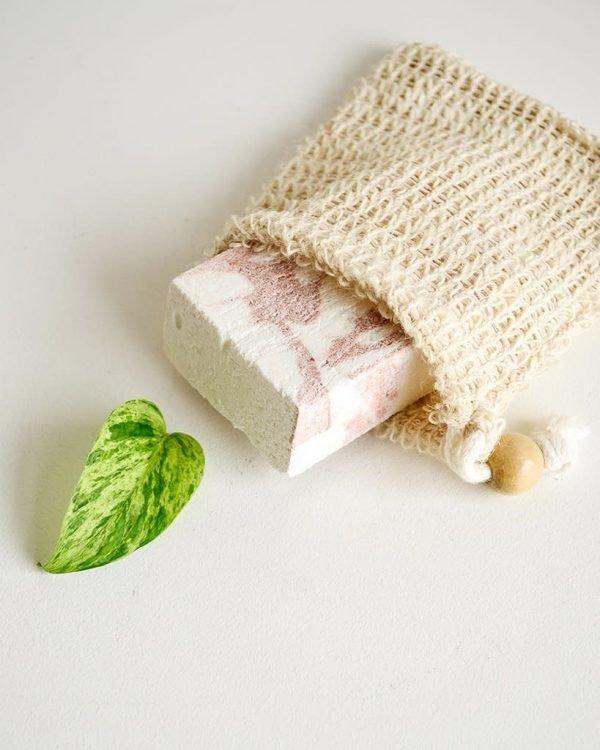 Bolsa sisal para jabón sólido