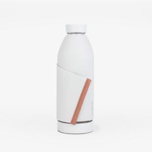 Botella reutilizable Blanco y franja coral - Closca