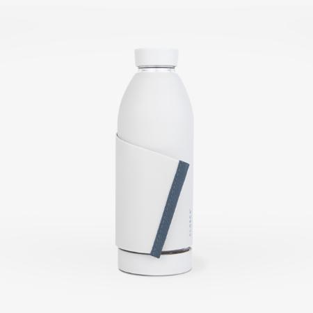 Botella reutilizable Blanco y franja gris - Closca