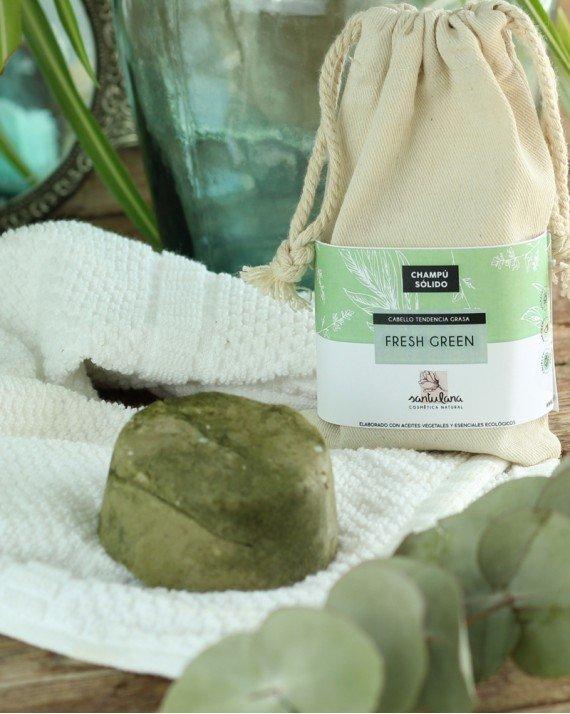 Champú cabello graso, green - Santulana