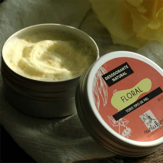 """Desodorante sólido en lata de aluminio """"Floral"""" - Santulana"""