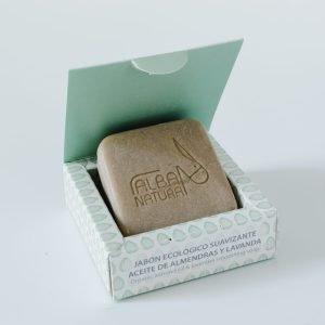 Jabón sólido natural de almendra y lavanda