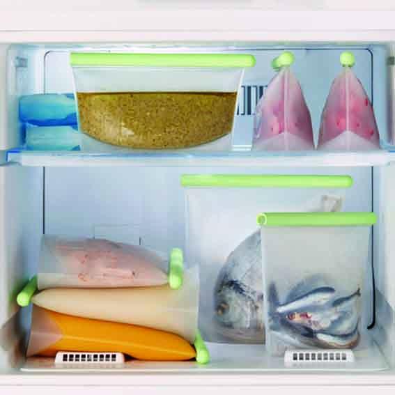 Bolsas reutilizable sin plástico para congelar