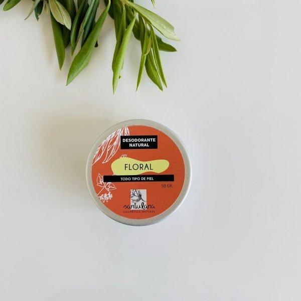 desodorante cremoso en lata floral