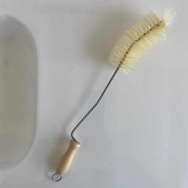 Cepillo limpiador botellas de cuello estrecho