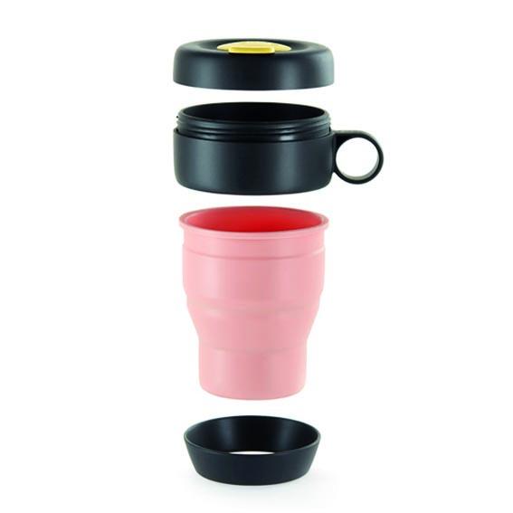 Taza plegable reutilizable y hermética sin plástico Lekué