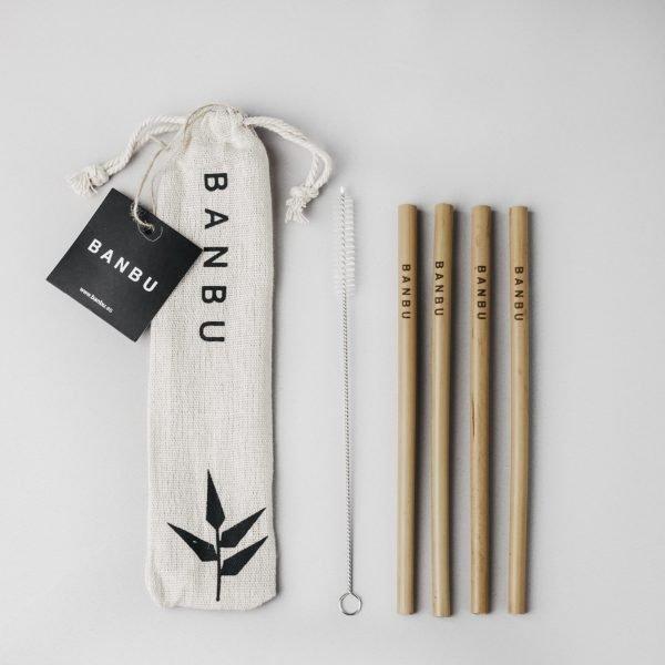 kit pajitas de bambu - Banbu