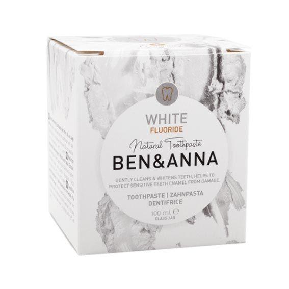 Packaging del dentrífico blanqueante con flúor - Ben & Anna