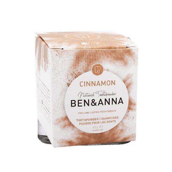Packaging dentífrico en polvo con canela - Ben & Anna