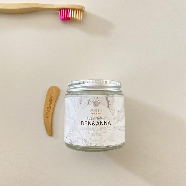 Dentrífico blanqueante con flúor - Ben & Anna
