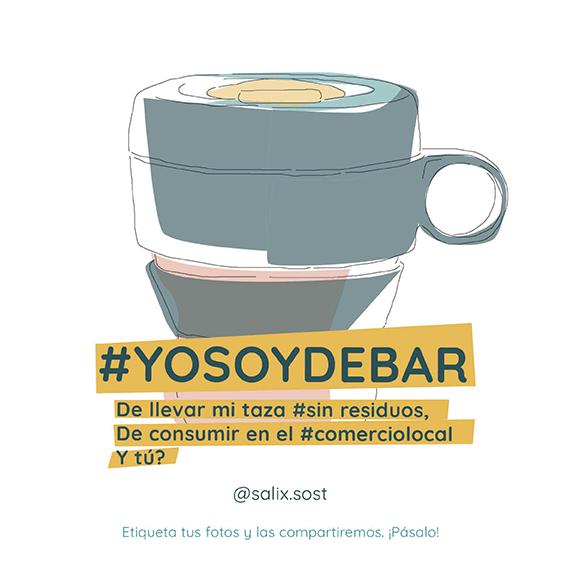 Campaña eco para llevar #yosoydebar de Salix Sostenible
