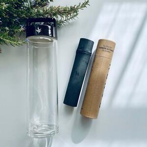 Filtro carbón de bambú + botella cristal borosilicato