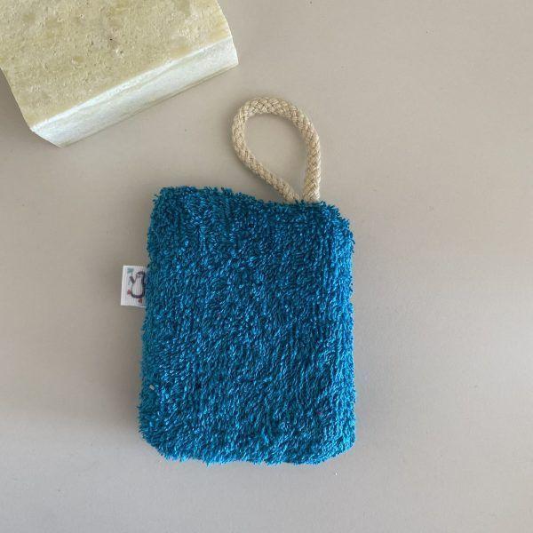 Esponja multiusos lavable de algodón orgánico TURQUESA - The Zapppy Penguin