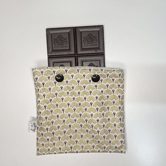 Chocolate en bolsa snack estampado pavo real dorado - The Zappy Penguin