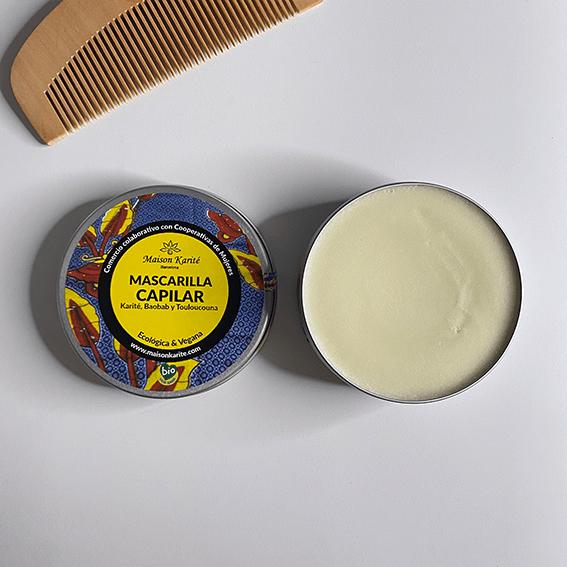 Lata alumino abierta con mascarilla capilar en crema