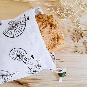 bolsa de pan de algodón orgánico
