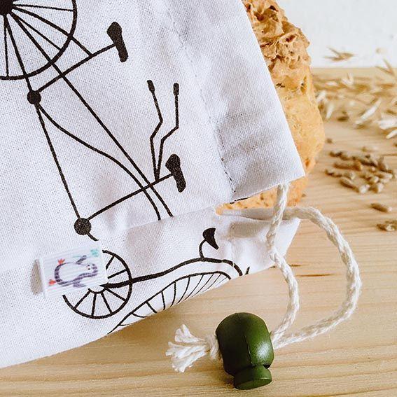 Detalle cierre bolsa de pan