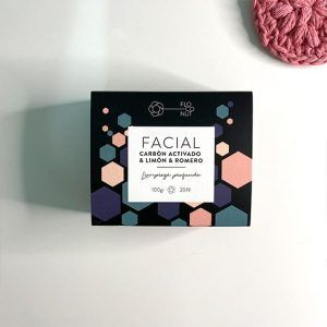 Jabon facial de Floconut con carbón activado