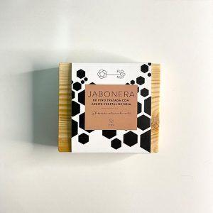 Jabonera de pino tratada con aceite de soja - Floconut