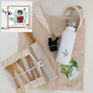 "Pack productos ""Por fin aire libre"" con avatar del profesor"