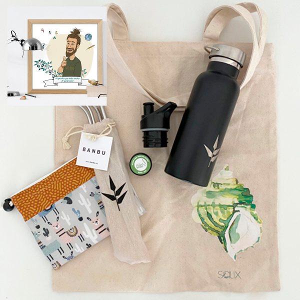 Pack productos Verano al sol con avatar del profe
