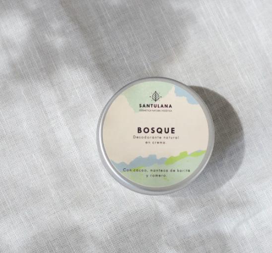 Lata de desodorante sólido en crema, Bosque de Santulana